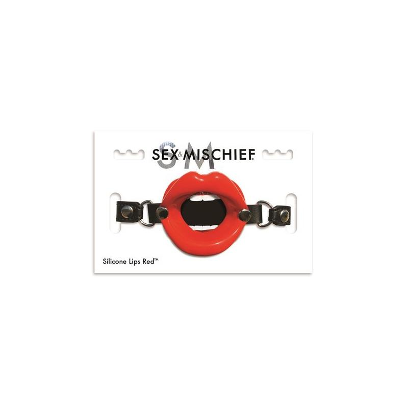 Silicone Gag Lips Red