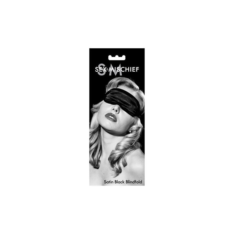 Antifaz Satinado Color Negro de SEX & MISCHIEF #satisfactoys