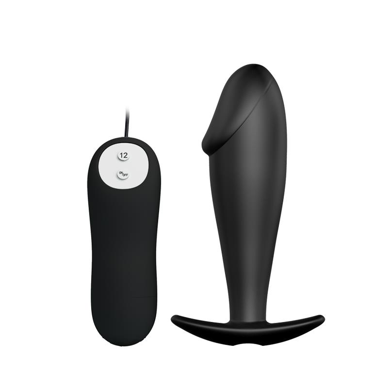 Anal Plug Black with Remote Control