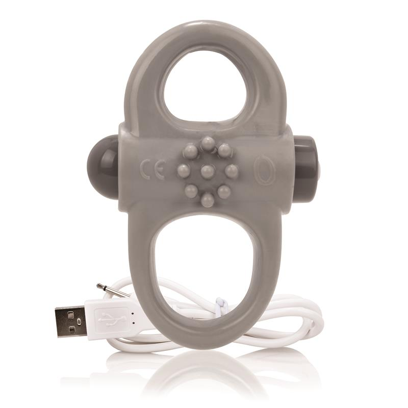 Charged Anillo Vibrador Yoga  - Gris de SCREAMINGO #satisfactoys
