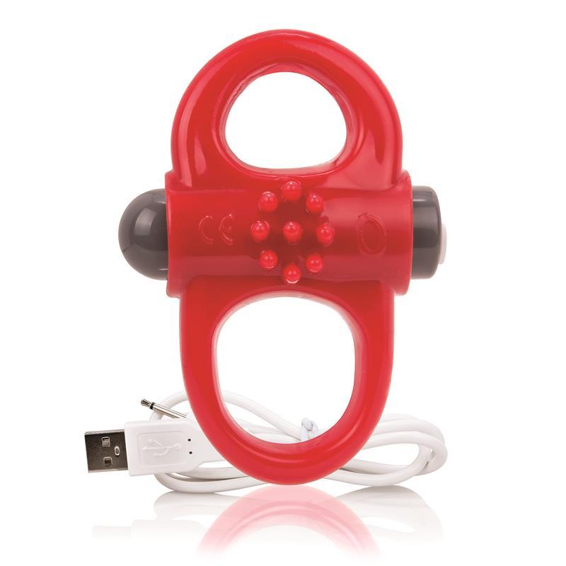 Charged Anillo Vibrador Yoga - Rojo de SCREAMINGO #satisfactoys