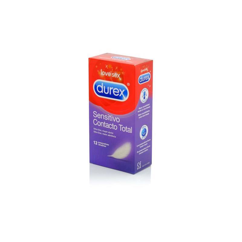 Preservativos Sensitivo Contacto Total 12 Unidades de DUREX #satisfactoys