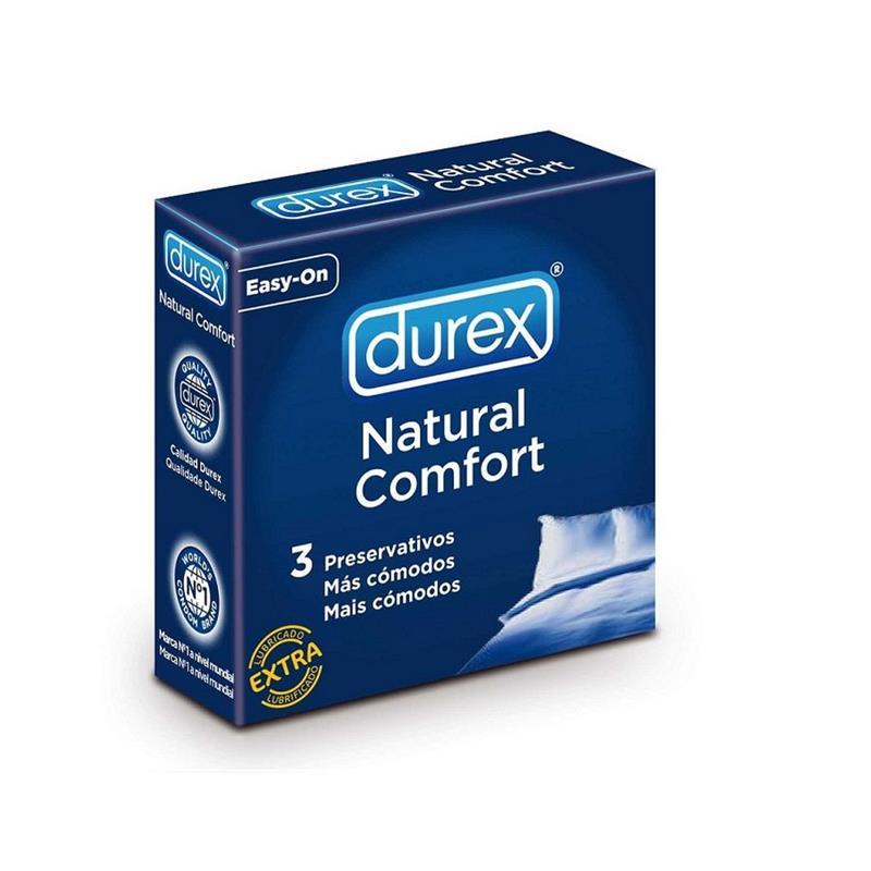 Preservativos Natural Comfort 3 Unidades de DUREX #satisfactoys