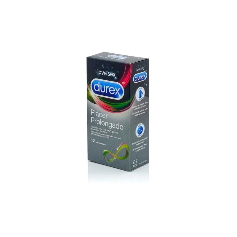 Preservativos Placer Prolongado 12 Unidades de DUREX #satisfactoys