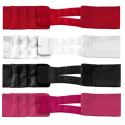Flexible Bra Extenders 2-hook - 4 colors