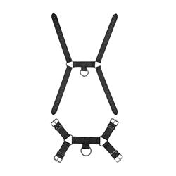 Ouch! Skulls and Bones - Male Harness with Spikes