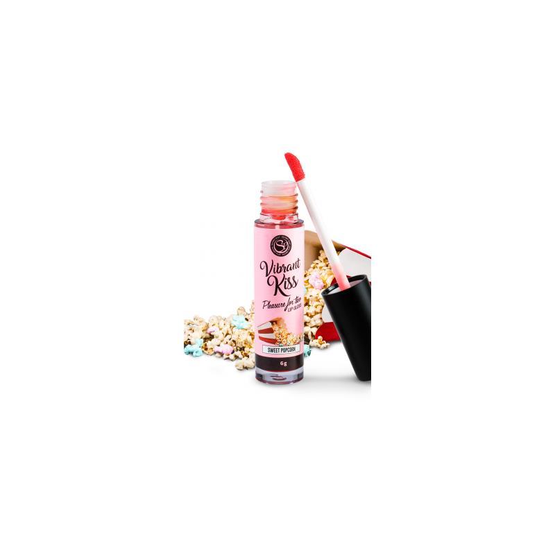 Lip Gloss Vibrant Kiss Flavor Sweet popcorn