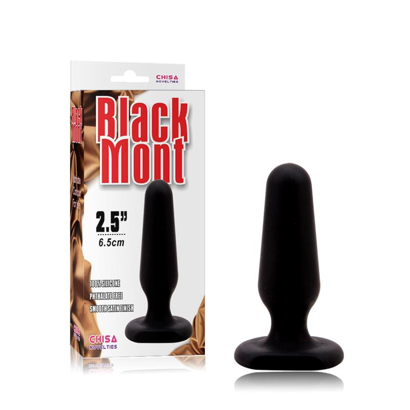 Plug Anal Black Mont Talla S Negro de CHISA NOVELTIES #satisfactoys