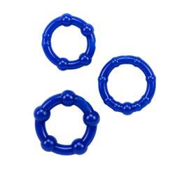 Beaded Cock Rings-Blue