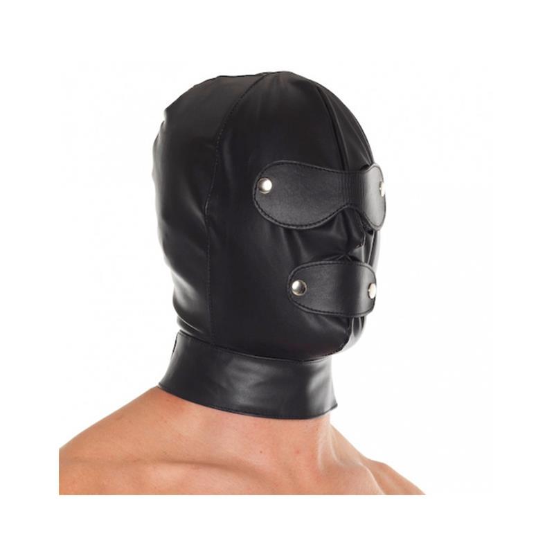 Máscara Cuero Ajustable de BONDAGE PLAY #satisfactoys