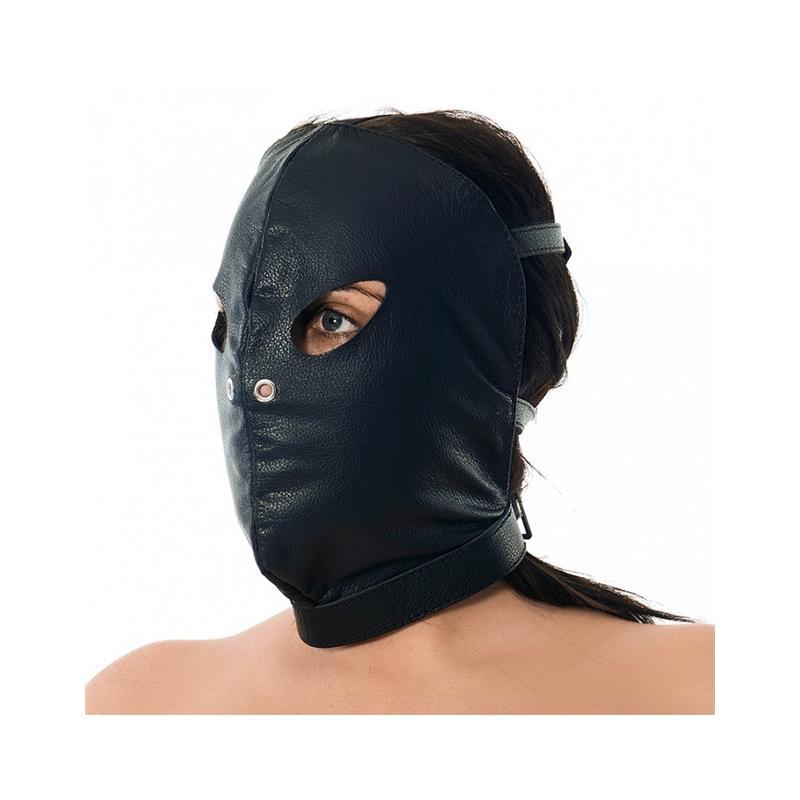 Máscara Cuero con Abertura Ojos y Nariz Ajustable de BONDAGE PLAY #satisfactoys
