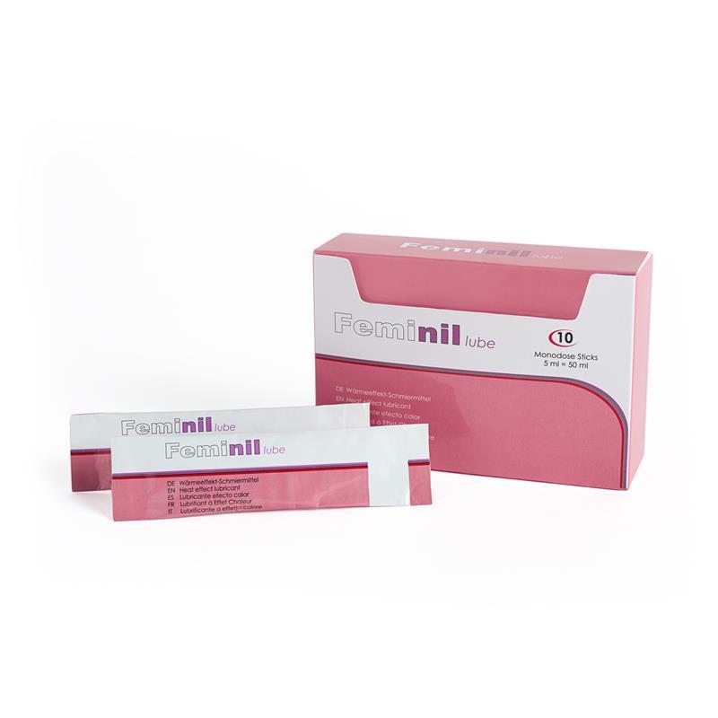 Zahřejte Účinek Feminil mazání 10 jednodávkových 5 ml