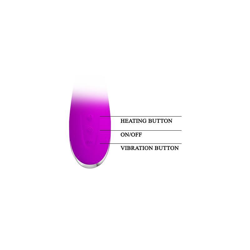 Vibrador Wilbur Efecto Calor Silicona 20.5 x 3.5 cm (6)