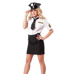Police Uniform with Hat, 4 pcs.-ML