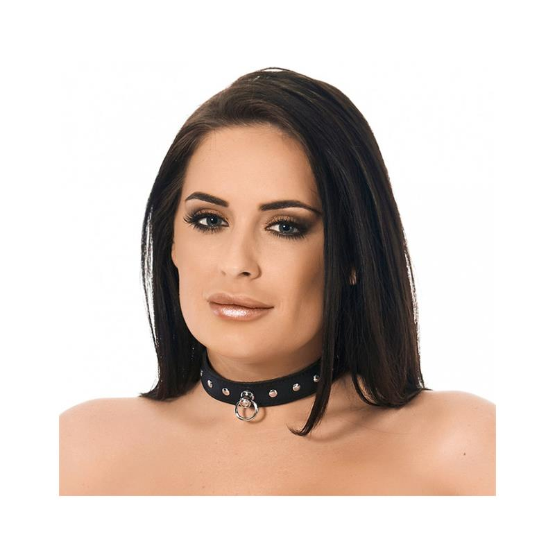 Leather Collar with Rivets Velikost: S/M