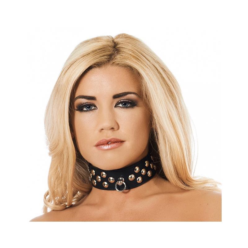 Leather Collar with Studs Velikost: S/M