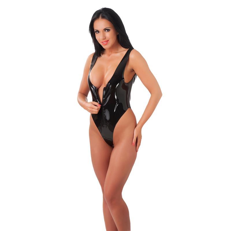Rimba Latex Play Body with Zipper Velikost: S