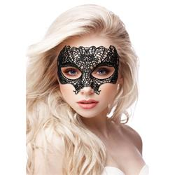 Princess Black Lace Mask Black