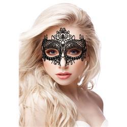 Queen Black Lace Mask - Black