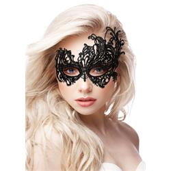 Royal Black Lace Mask - Black