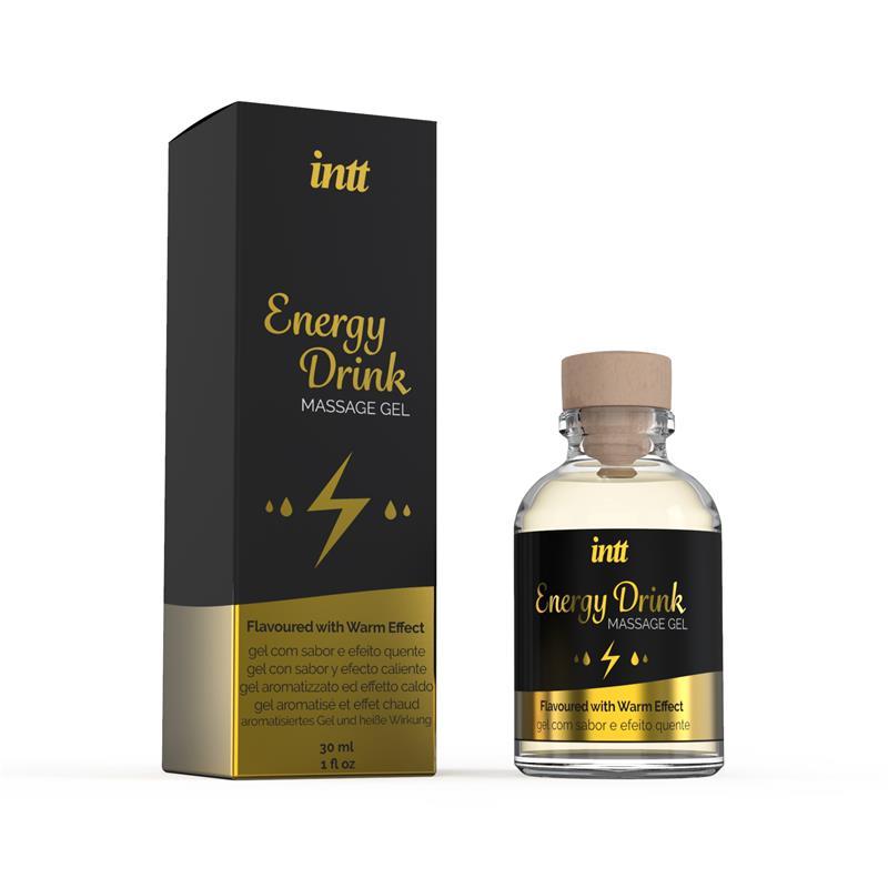 Gel de Masage Energy Drink 30 ml de INTT #satisfactoys