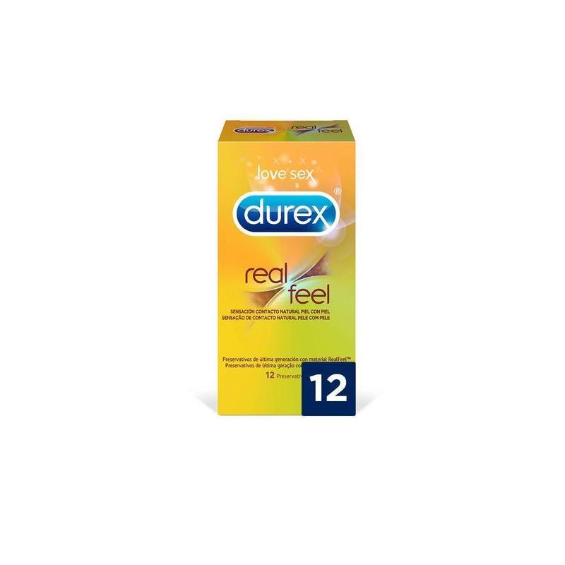 Preservativos Real Feel 12 Unidades de DUREX #satisfactoys