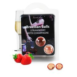 SET 2 BRAZILIAN BALLS AROMA FRESAS CAVA
