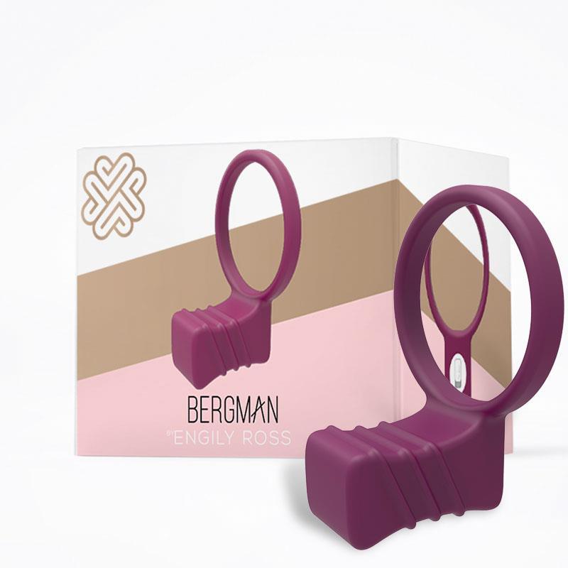Silikonový vibrační prsten kroužek na penis Bergman Cock Ring Silicone Purple