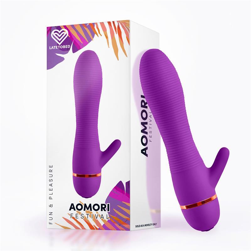 Aomori Vibrador Silicona Púrpura de FESTIVAL #satisfactoys