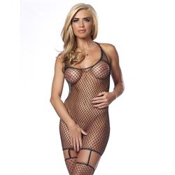 Rimba - Fishnet Dress with attached Stockings