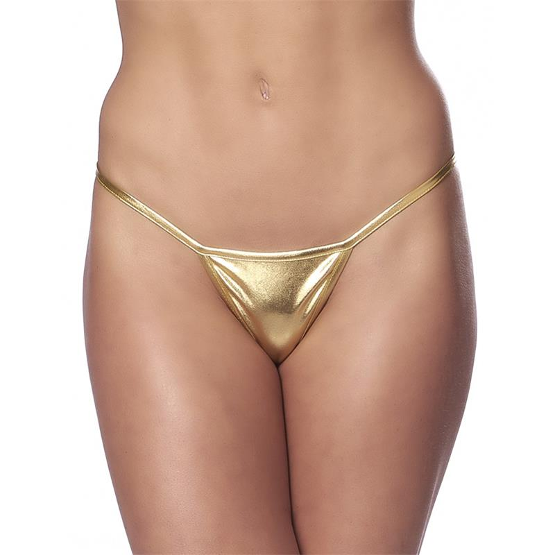 Micro Thong Gold Size One Size