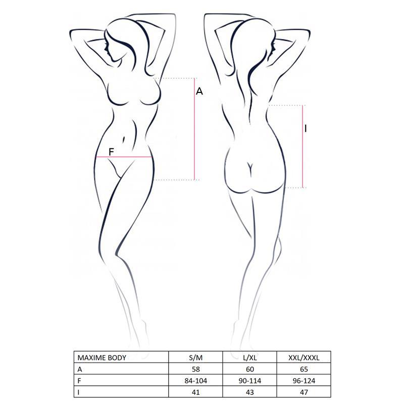 MAXIME Tělo White Velikost: S / M