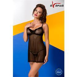 VALENTINE CHEMISE black S/M - Avanua