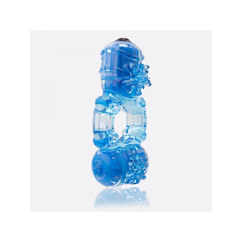 Anillo Vibrador Big O 2 Doble Azul de SCREAMINGO #satisfactoys