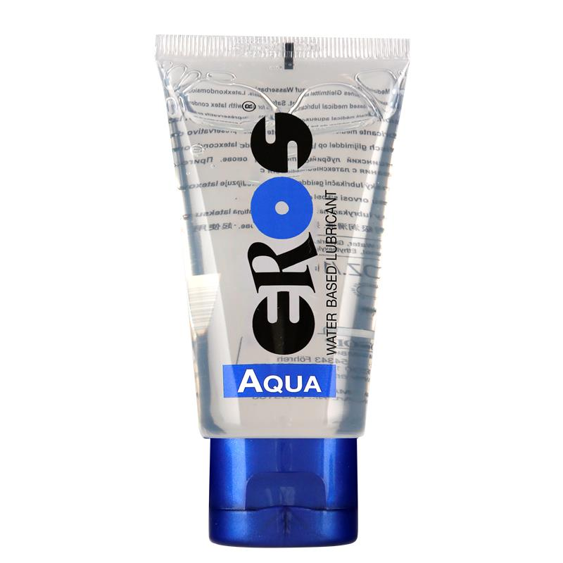 Lubricante Base Agua Aqua Tubo 50 ml de EROS #satisfactoys