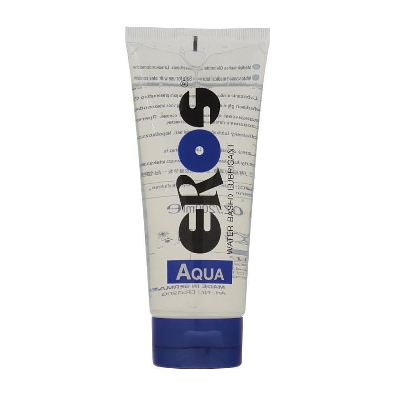 Lubricante Base Agua Aqua Tubo 200 ml de EROS #satisfactoys