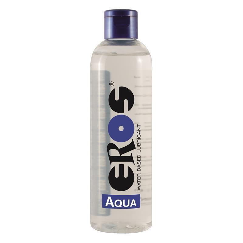 Lubricante Base Agua Aqua Botella 250 ml de EROS #satisfactoys