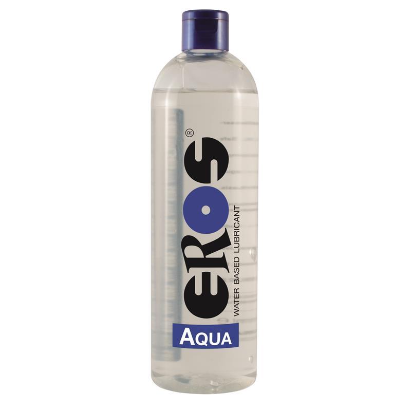 Lubricante Base Agua Aqua Botella 500 ml de EROS #satisfactoys