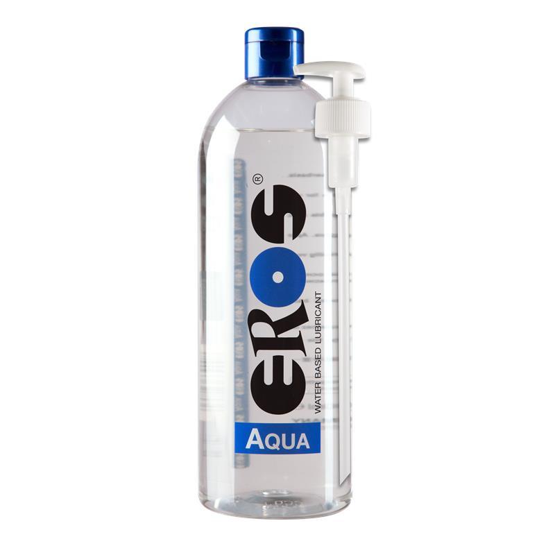 Lubricante Base Agua Aqua Botella dispensador 1000 ml de EROS #satisfactoys