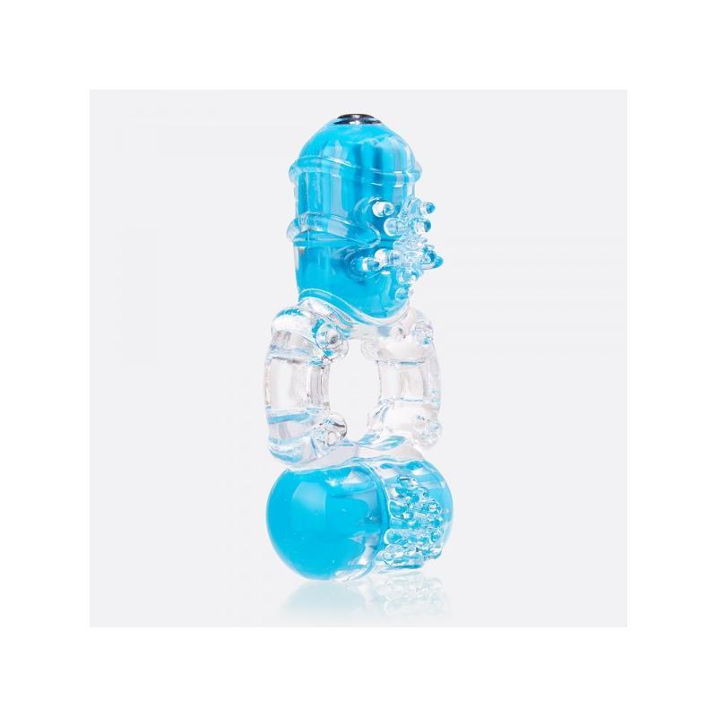 Anillo Vibrador Doble ColorPop Big O 2 Azul de SCREAMINGO #satisfactoys