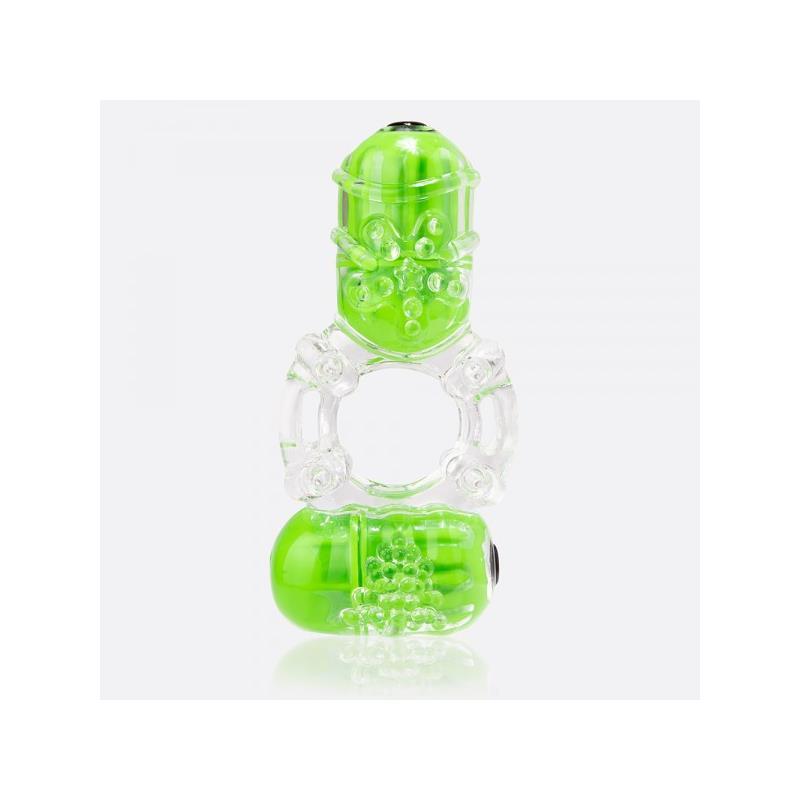 Anillo Vibrador Doble ColorPop Big O 2 Verde de SCREAMINGO #satisfactoys