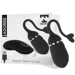 Remote Vibrating Egg Adoree USB Silicone Black