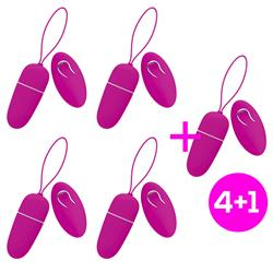 Pack 4+1 Nutty Vibrating Egg with Remote Control