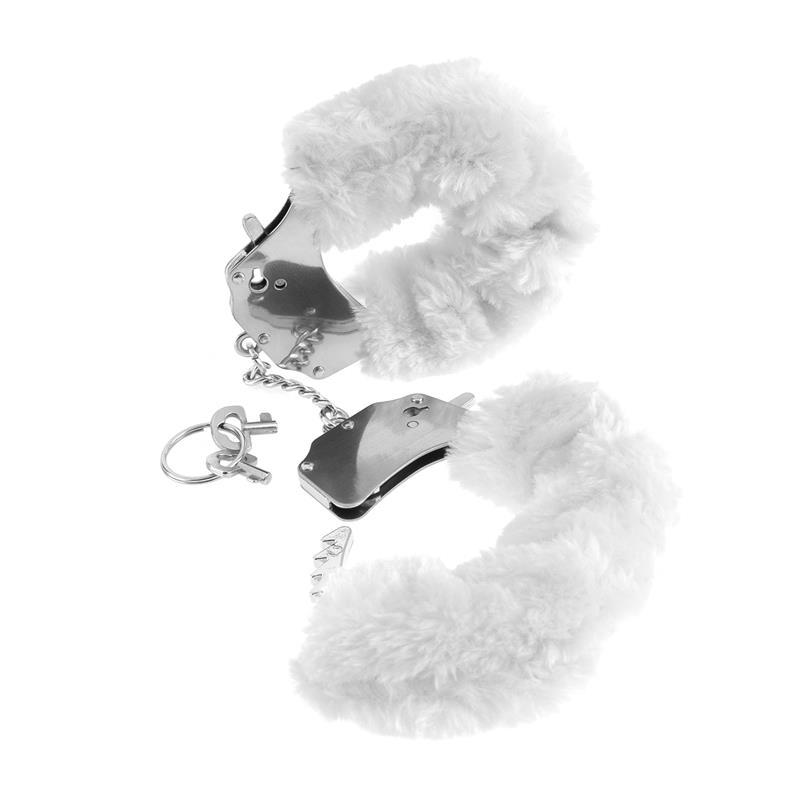 Fetish Fantasy Series Esposas de Peluches Originales Color Blanco de FETISH FANTASY SERIES #satisfactoys