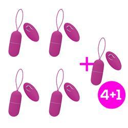 Pack 4+1 Kotty Vibrating Egg Remote Control