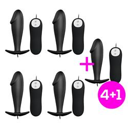 Pack 4+1 Humpty Anal Toy Control Remote