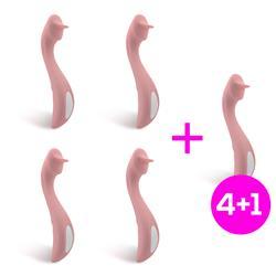 Pack 4+1 Brightpink Ergonomic G-Spot Vibrator
