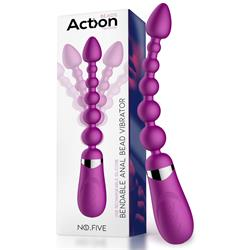 No. Five Bendable Anal Beads Vibrator