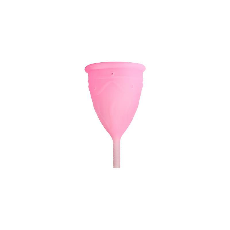 Copa Menstrual Ève Rosa Talla L Silicona Platino de FEMINTIMATE #satisfactoys