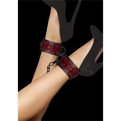 Luxury Ankle Cuffs - Burgundy